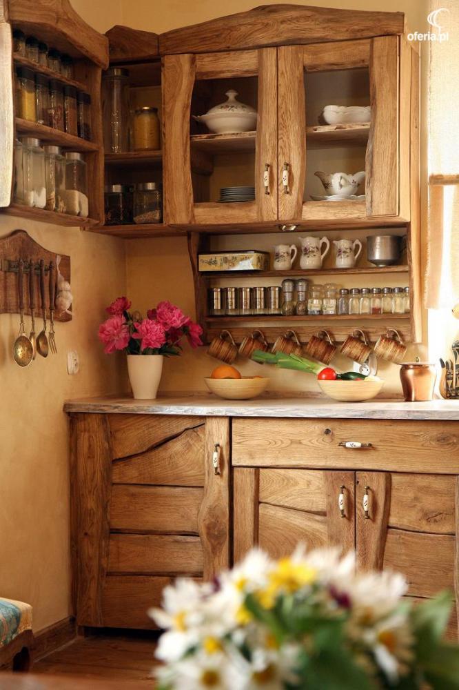 meble kuchenne rustykalneretro wiejskie z drewna kowary
