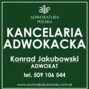 Kancelaria Adwokacka Adwokat Konrad Jakubowski Katowice i okolice