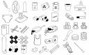 czarno-białe proste ikony