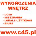 WYKOŃCZENIA WNĘTRZ - PRECYZYJNE WYKONANIE INWESTYCJI sprawdź na:  www.c45.pl Cała Polska, Warszawa, Piaseczno i okolice