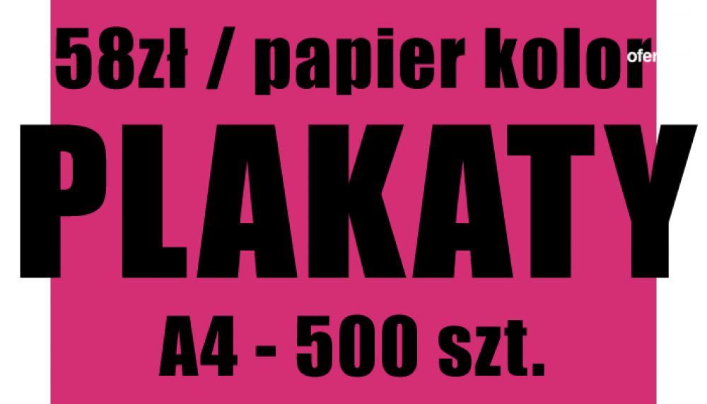 Plakaty A4 Druk Czarno Biały Papier Kolor Wrocław
